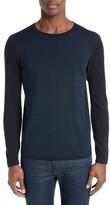 Armani Collezioni Men's Textured Front Cotton Sweater