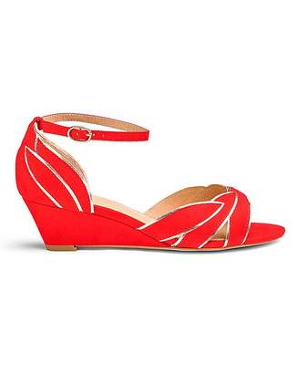 Jd Williams Ankle Strap Wedge Sandals E Fit