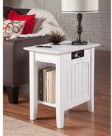 Atlantic Nantucket Charger White Wood Side Table