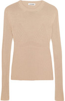 Jil Sander Ribbed-knit Sweater - Beige