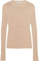 Jil Sander Ribbed-knit Sweater - Beige