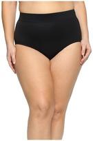 Miraclesuit Plus Size Solid Basic Brief Bottom Women's Swimwear