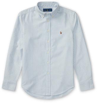 Ralph Lauren Kids Cotton Oxford Stripe Sport Shirt, Size S-XL