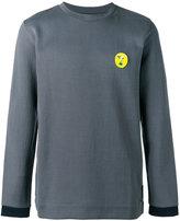 Fendi embroidered sweatshirt - men - Cotton/Polyamide/Polyester/Wool - 48