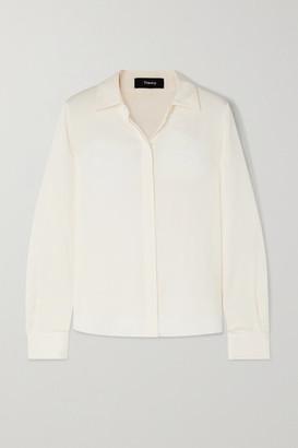 Theory Stretch-silk Shirt - Ivory