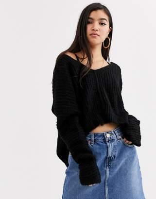 Free People Moonbeam alpaca wool blend jumper-Black