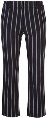 Derek Lam 10 Crosby Braided Trim Striped Trousers