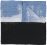 Jil Sander paint patch wrap scarf