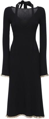 Ellery Flared Double Viscose Blend Midi Dress