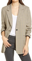 Treasure & Bond Plaid One-Button Blazer