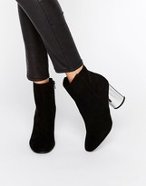 London Rebel Round Heel Boot with Mirror Heel
