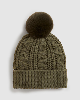 French Connection Cable Knit Beanie