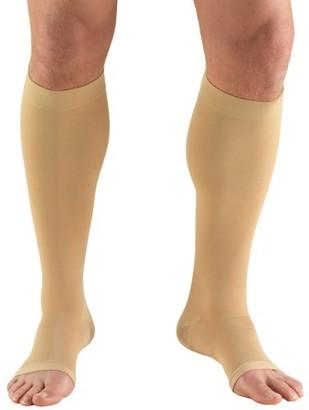 BEIGE Truform Stockings, Short Length, Knee High, Open Toe: 30-40 mmHg, Beige, Medium (short length)