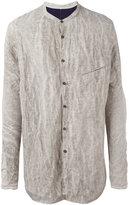 Ziggy Chen - crumpled detail shirt - men - Cotton/metal - 48