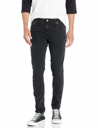 Nudie Jeans Men's Skinny Lin Black Stone Pwr 30/30