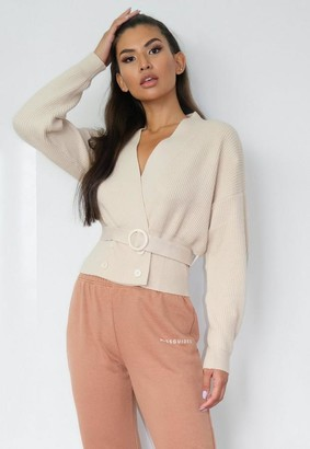 Missguided Double Breasted Tie Cardigan