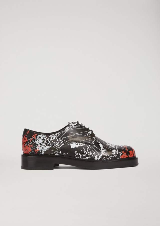 Emporio Armani Printed Leather Derby