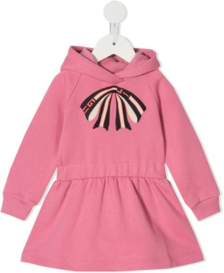 Gucci Kids Bow Embroidered Sweat Dress
