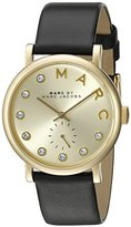 Marc by Marc Jacobs Women's MBM1399 Baker Gold-Tone Watch with Black Leather Band
