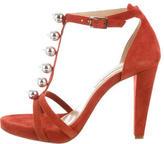 Diane von Furstenberg Embellished T-strap Sandals