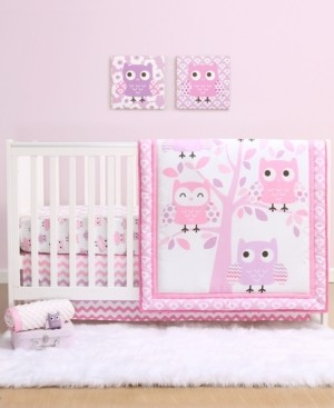 The Peanut Shell Ps by The Dancing Owls 3-Piece Crib Bedding Set Bedding