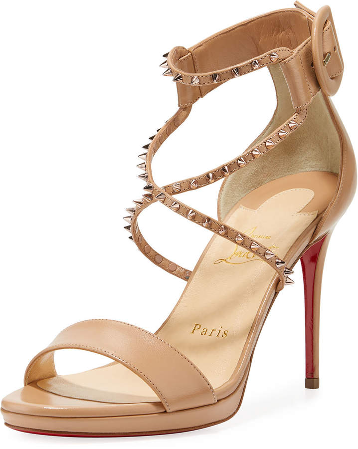 newest 7dcb8 91239 Choca Lux Red Sole Sandal