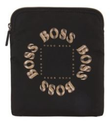 BOSS Envelope bag with layered metallic logo