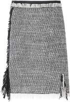 Lanvin fringed detail skirt