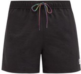 Paul Smith Zebra-embroidered Swim Shorts - Mens - Black