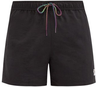 Paul Smith Zebra-embroidered Swim Shorts - Mens - Black