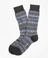 Brooks Brothers Cashmere Fair Isle Crew Socks