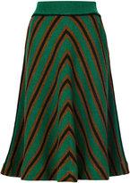 Miu Miu striped a-line skirt