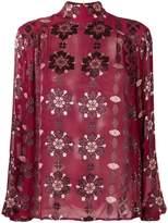Pierre Balmain sheer patterned blouse