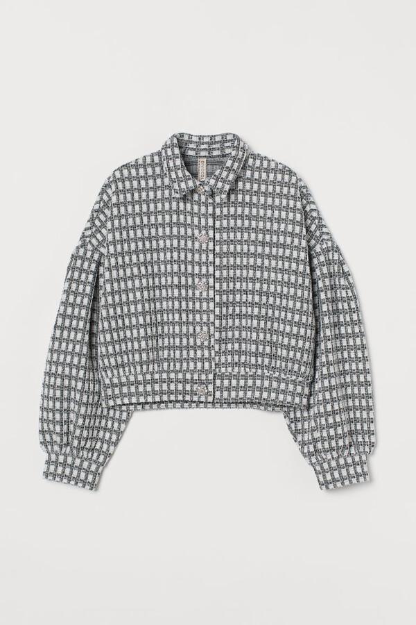 H&M Puff-sleeved Jacket - Black
