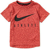 Nike Little Boys 4-7 Athlete Swoosh Short-Sleeve Tee