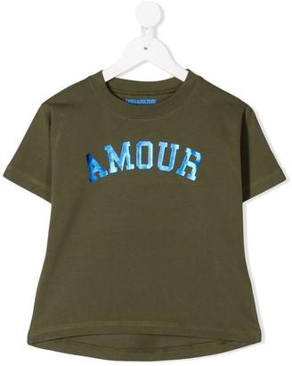 Zadig & Voltaire Kids Amour foil-print T-shirt