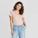Universal Thread Women's Striped Relaxed Fit Short Sleeve V-Neck T-Shirt - Universal ThreadTM
