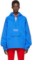 Martine Rose Blue Oversized Wind Cheater Jacket