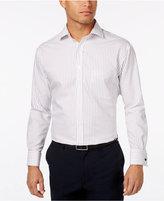 Tasso Elba Men's Burgundy Texture Stripe French Cuff Dress Shirt, Created for Macy's