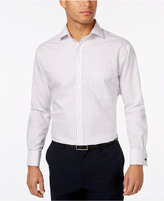 Tasso Elba Men's Burgundy Texture Stripe French Cuff Dress Shirt, Only at Macy's