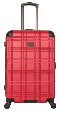 Ben Sherman Luggage Embossed 24-Inch Checked Hard Shell Luggage