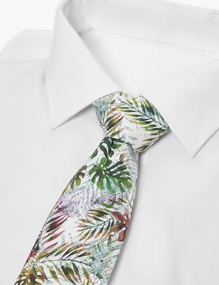 Marks and Spencer Slim Leaf Print Tie