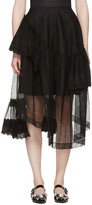 Simone Rocha Black Tulle and Broderie Anglaise Tiered Skirt