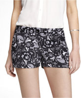 Express 2 1/2 Inch Lace Print Soft Shorts