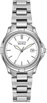 Citizen Watch Women's Quartz Watch with White Dial Analogue Display and Silver Stainless Steel Bracelet EW1960-59A
