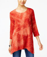JM Collection Tie-Dyed Sequined Tunic, Only at Macy's