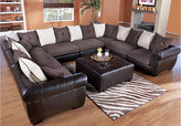 Rooms To Go Beckett Chocolate/Mocha 8 Pc Sectional