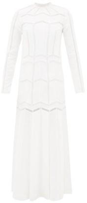 Gabriela Hearst Beavior Lace-trimmed Linen Dress - White