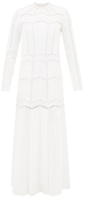 Gabriela Hearst Beavior Lace-trimmed Linen Dress - Womens - White