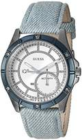 GUESS Women's Stainless Steel Connect Fitness Tracker Denim Watch